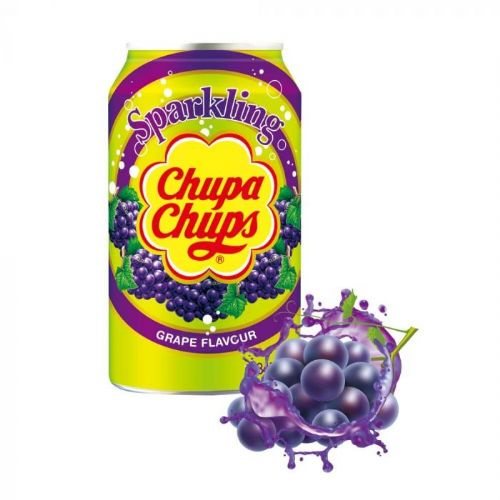 Chupa Chups Sparkling Grape 345ml Can  ( South Korea )